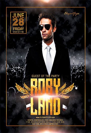 Guest Dj V02 – Flyer PSD Template + Facebook Cover