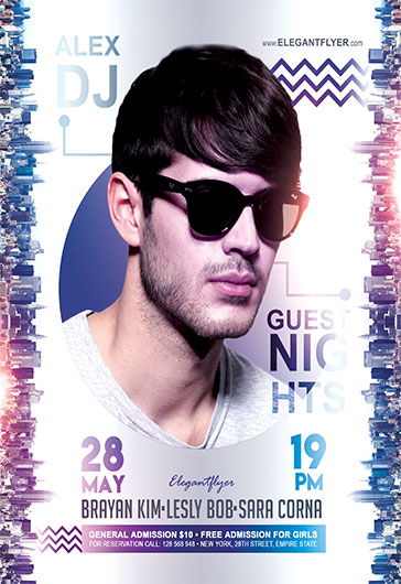Guest Nights – Flyer PSD Template + Facebook Cover