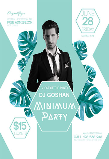 Minimum Party – Flyer PSD Template + Facebook Cover