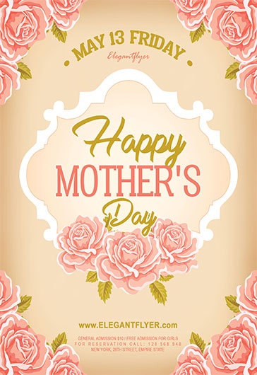 Mother's Day V02 – Flyer PSD Template + Facebook Cover