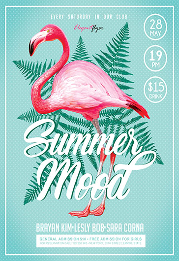 summer mood v02  u2013 free flyer psd template  u2013 by elegantflyer