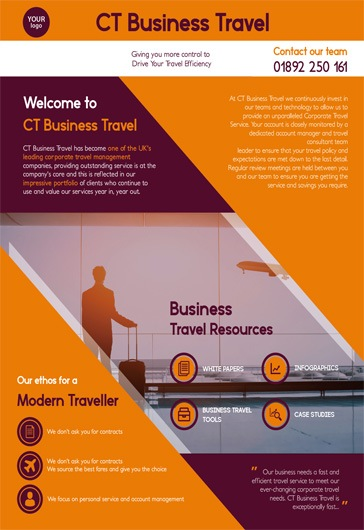 Bussines travel – Free Flyer PSD Template