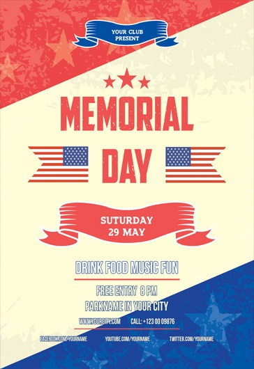 Memorial day V02 – Free Flyer PSD Template