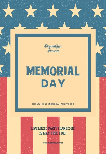Free Memorial Day Flyer Templates  By Elegantflyer
