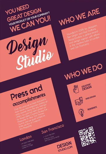 Design studio – Free Business Flyer PSD Template