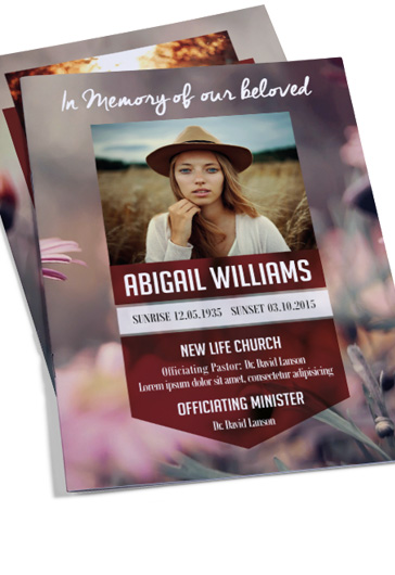 Funeral Program – Premium Bi-Fold PSD Brochure Template