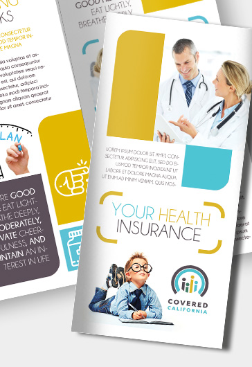 Health Insurance  Premium TriFold Psd Brochure Template  By
