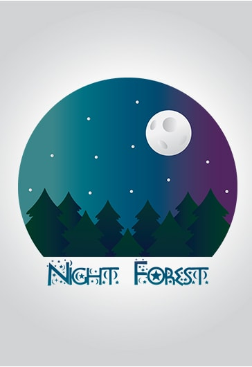 Night Forest – Premium Logo Template