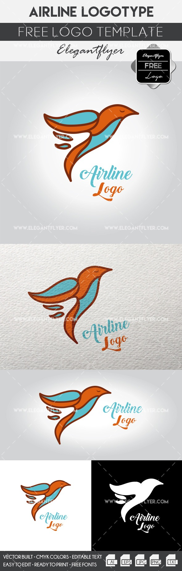 Airplane – Free Logo Template