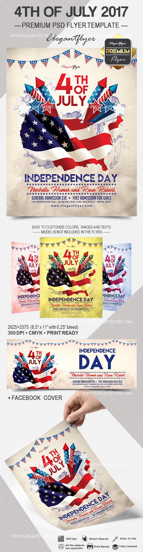 4th of July 2017 – Flyer PSD Template