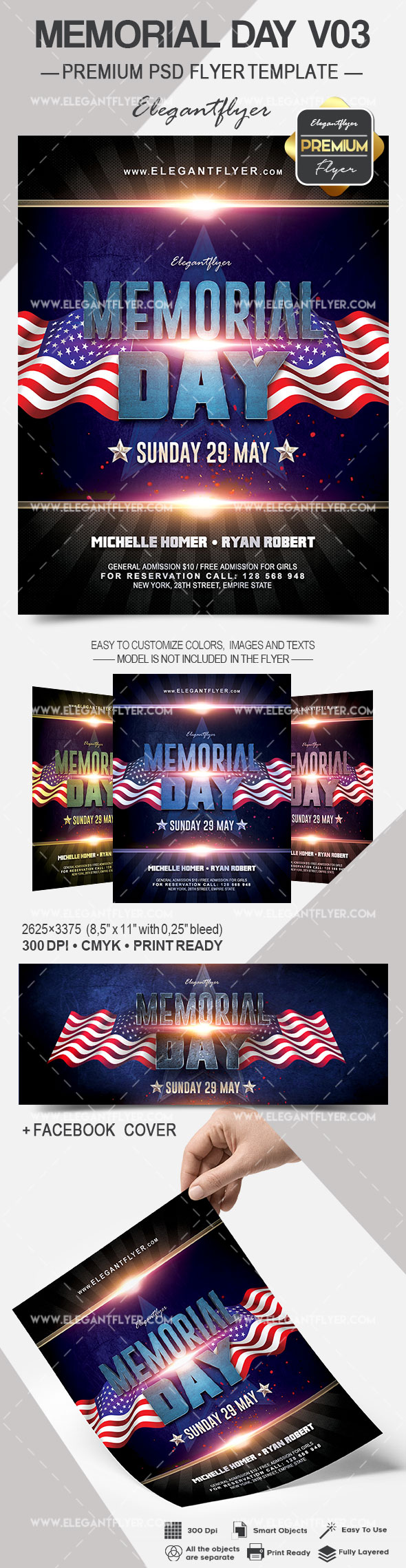 Memorial Day V03 – Flyer PSD Template