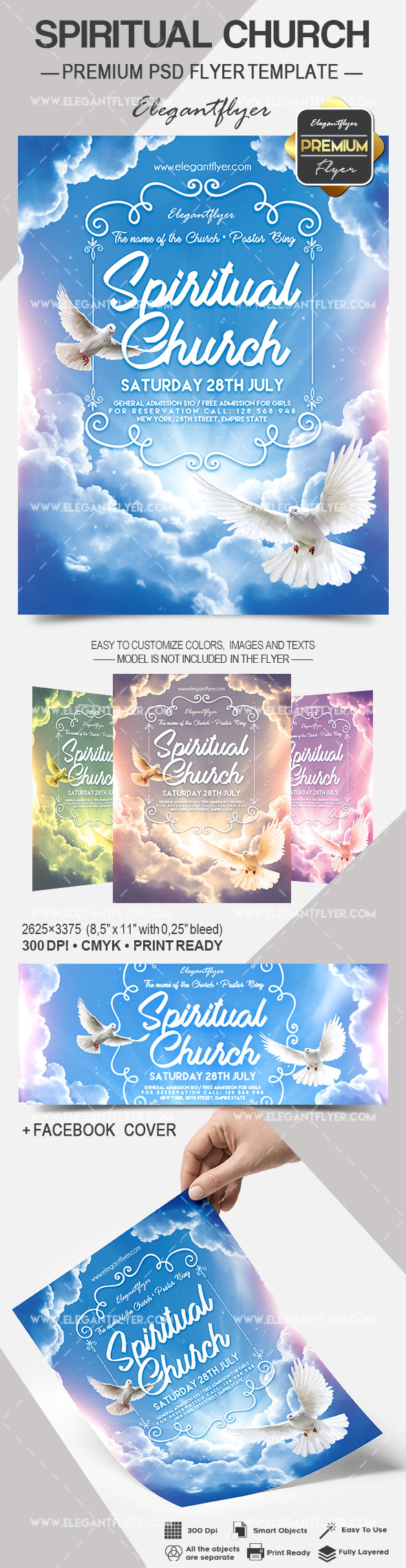 Spiritual Church – Flyer PSD Template