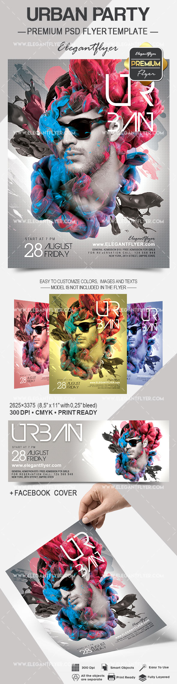 Urban Dance Music Flyer PSD Template
