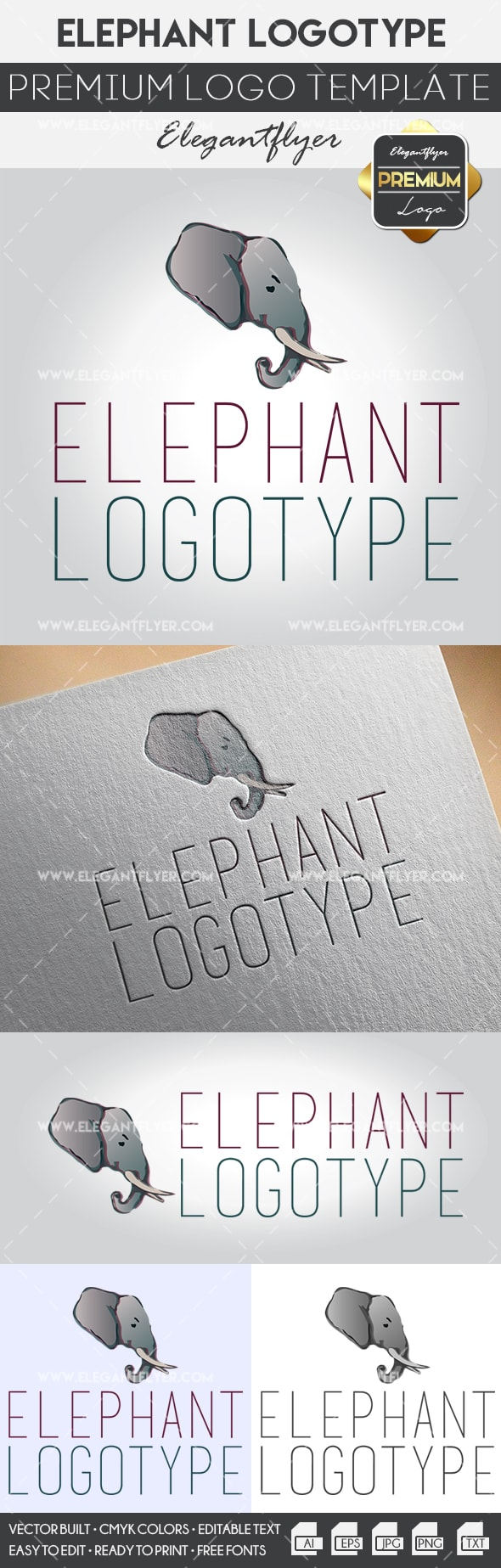 Logo Template for Elephant