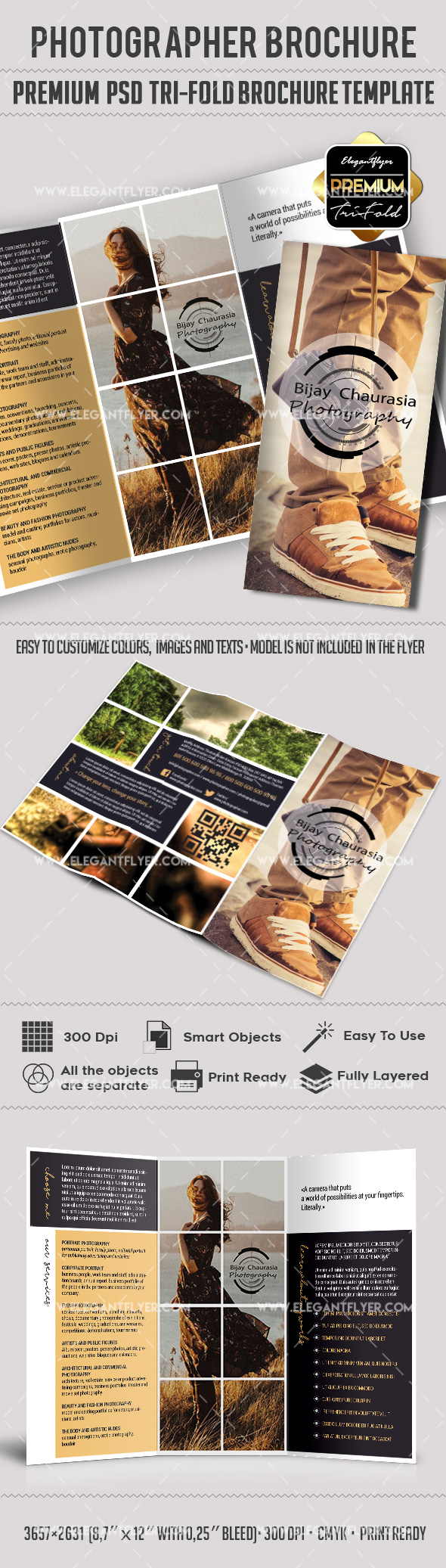 Families Photography Tri-Fold PSD Template
