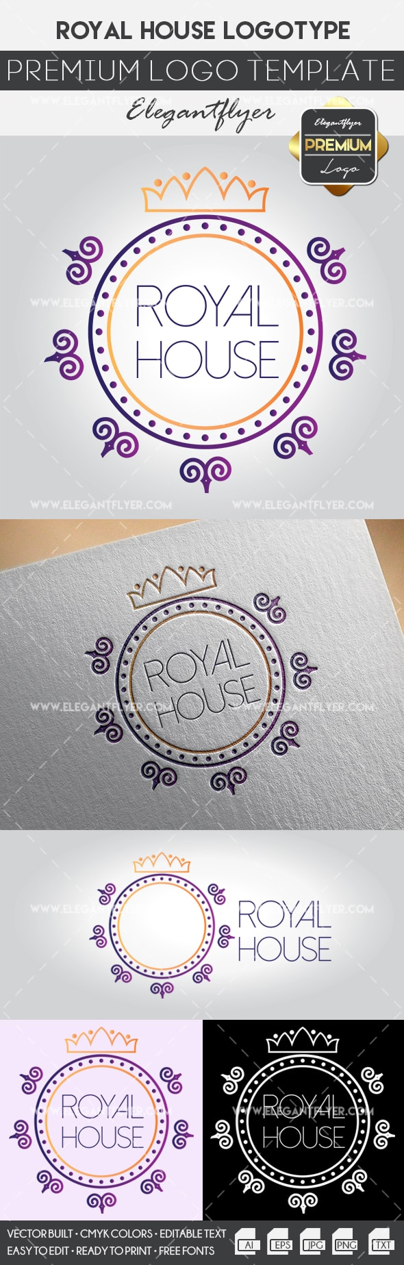Royal House – Premium Logo Template