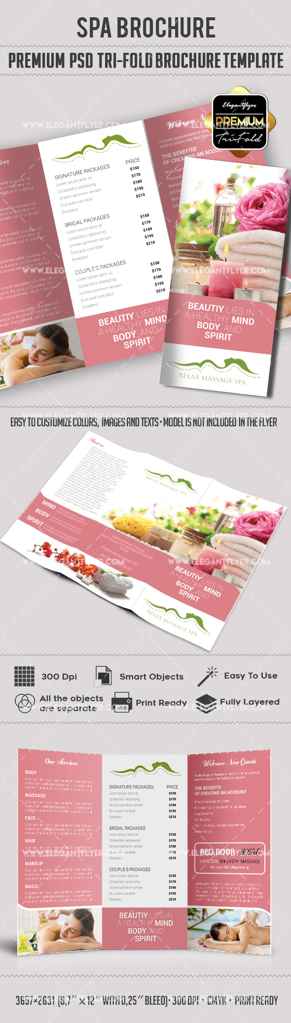 Relax Massage Spa Tri-Fold Brochure