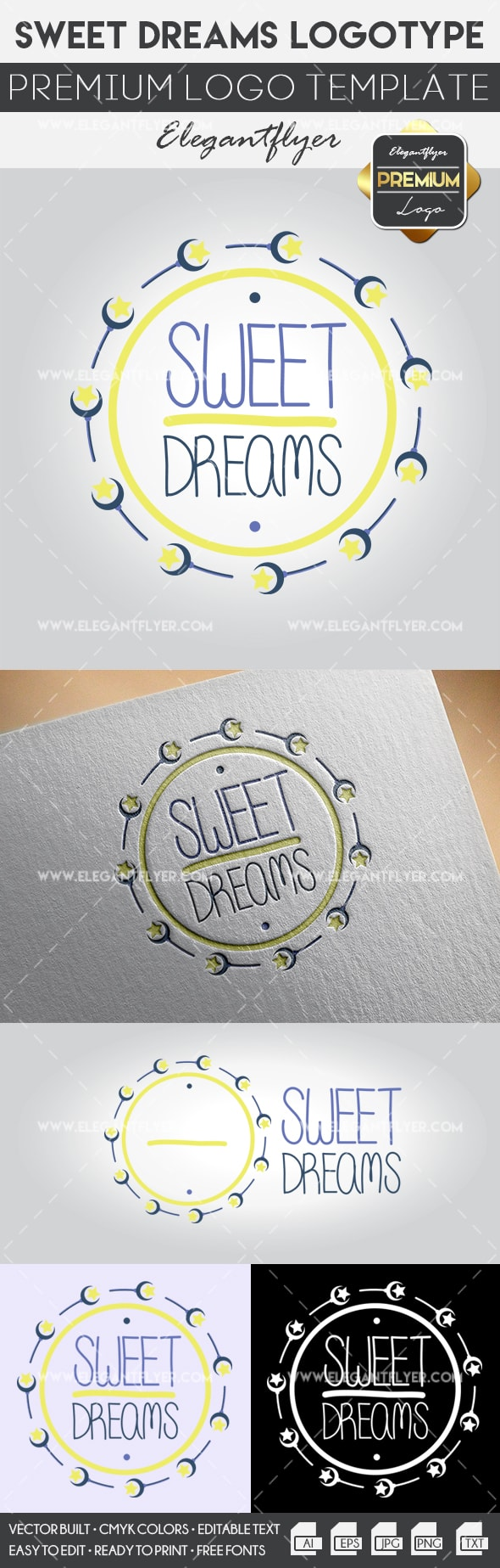 Sweet Dreams – Premium Logo Template