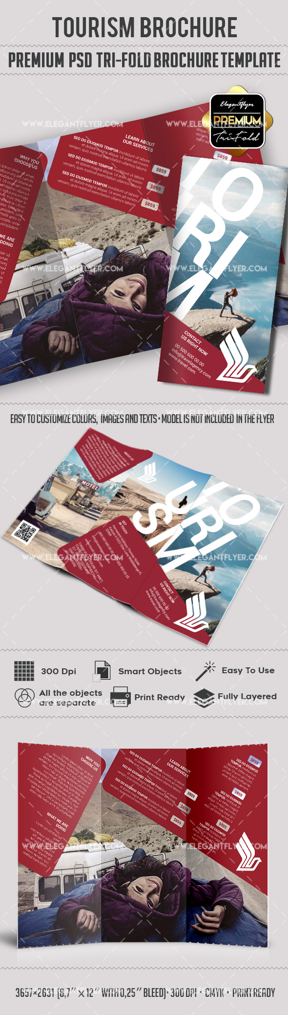 Travel and tourism tri fold brochure template by for Travel and tourism brochure templates free