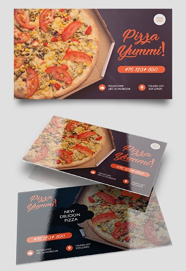 Pizza Menu – Tri-Fold Brochure PSD Template