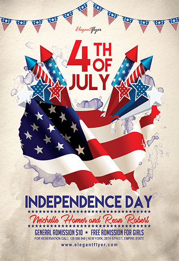 Memorial Day Party – Flyer Psd Template + Facebook Cover – By