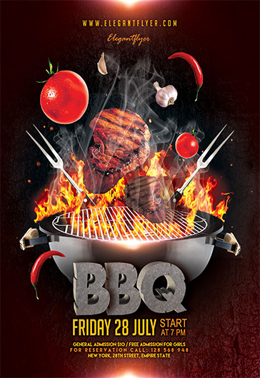 BarbecueBbq  Free Flyer Psd Template  By Elegantflyer