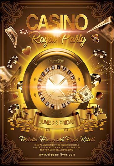 Casino Royal Party – Flyer PSD Template