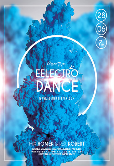 Electro Dance – Flyer PSD Template