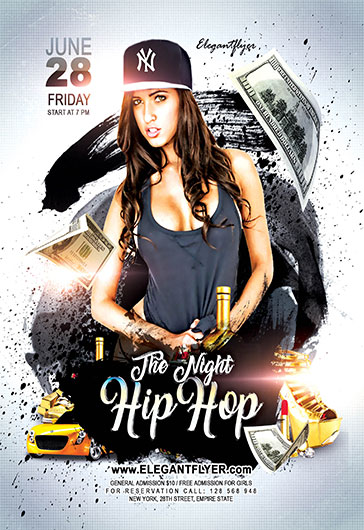 Night Hip Hop  Flyer Psd Template  By Elegantflyer