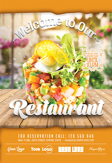 Free Food Flyer Templates For Photoshop  By Elegantflyer