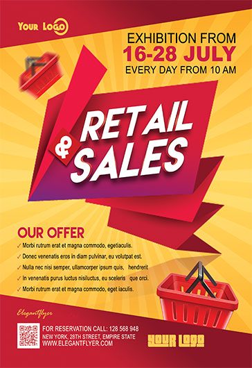 Marketing. Retail U0026 Sales U2013 Flyer PSD Template