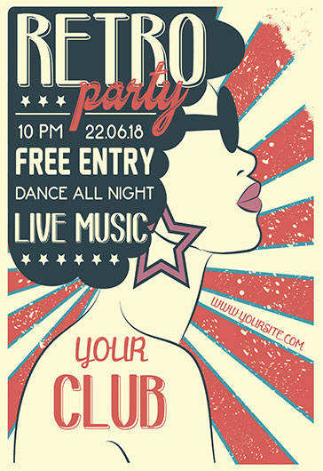 Invitation Poster for Retro Party