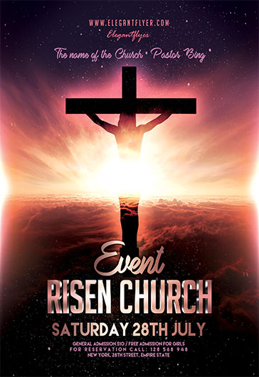 Risen Church Event – Flyer PSD Template