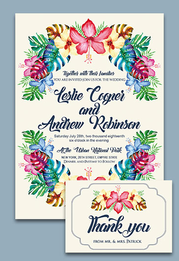 Wedding V02 – Invitation PSD Template