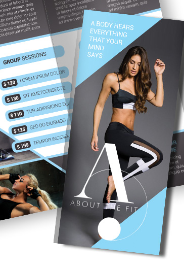 Fitness – Premium Tri-Fold Psd Brochure Template – By Elegantflyer