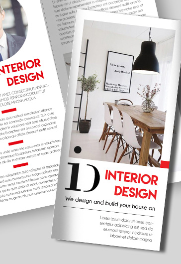 Interior Design Free TriFold Brochure  By Elegantflyer