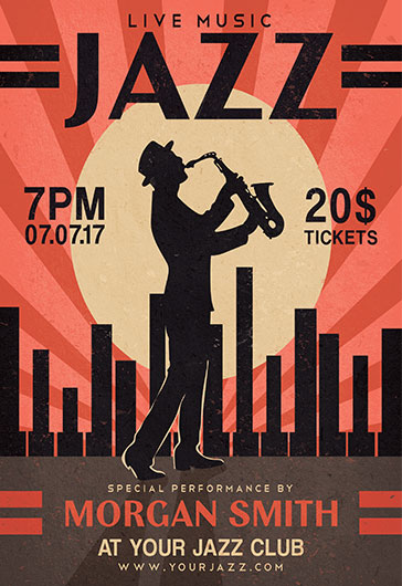Jazz – Free Flyer PSD Template