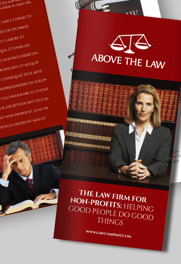 Law Company – Premium Tri-Fold Psd Brochure Template – By Elegantflyer