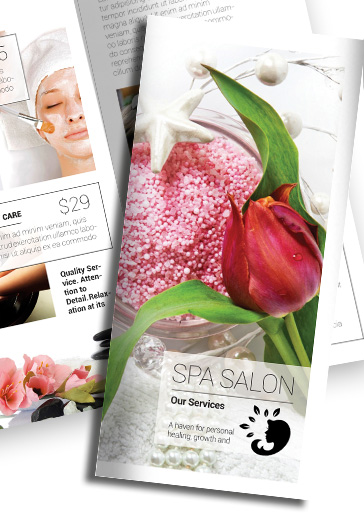 Tri-Fold Brochure for Spa Salon Template