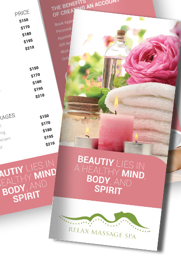 Spa  Premium TriFold Psd Brochure Template  By Elegantflyer
