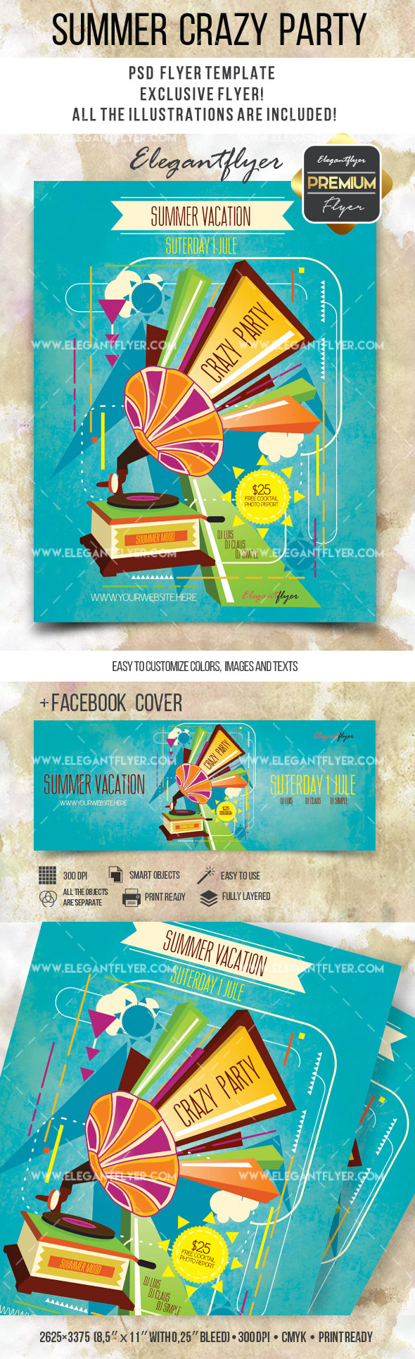 Summer Crazy – Flyer PSD Template