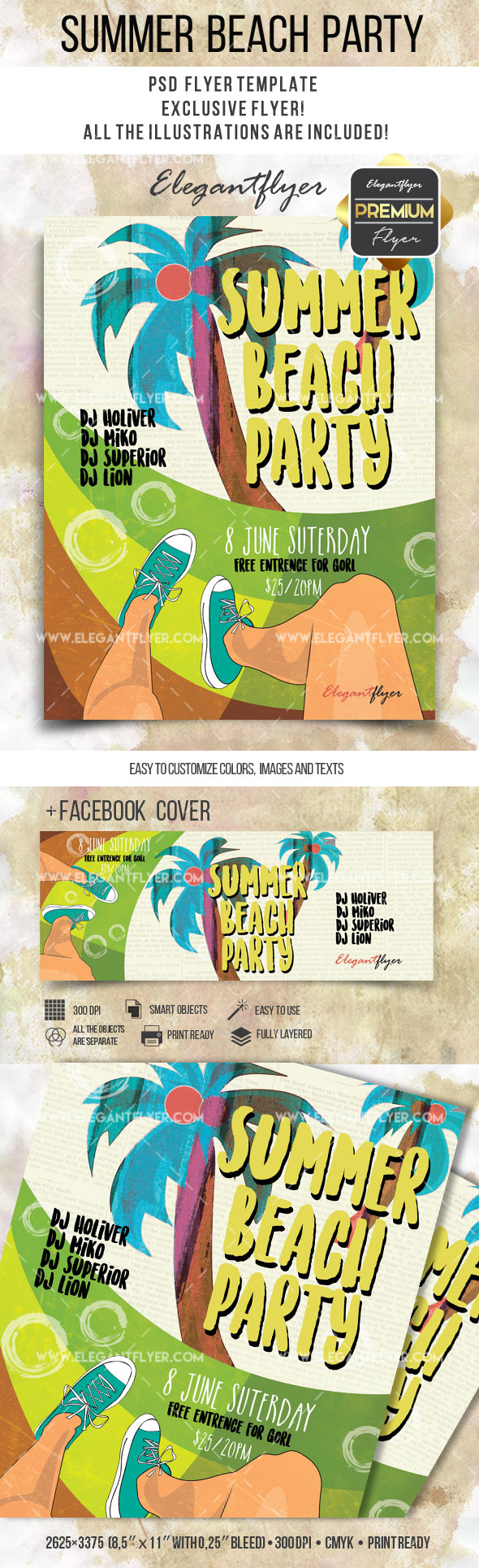 Summer at the Beach PSD Template