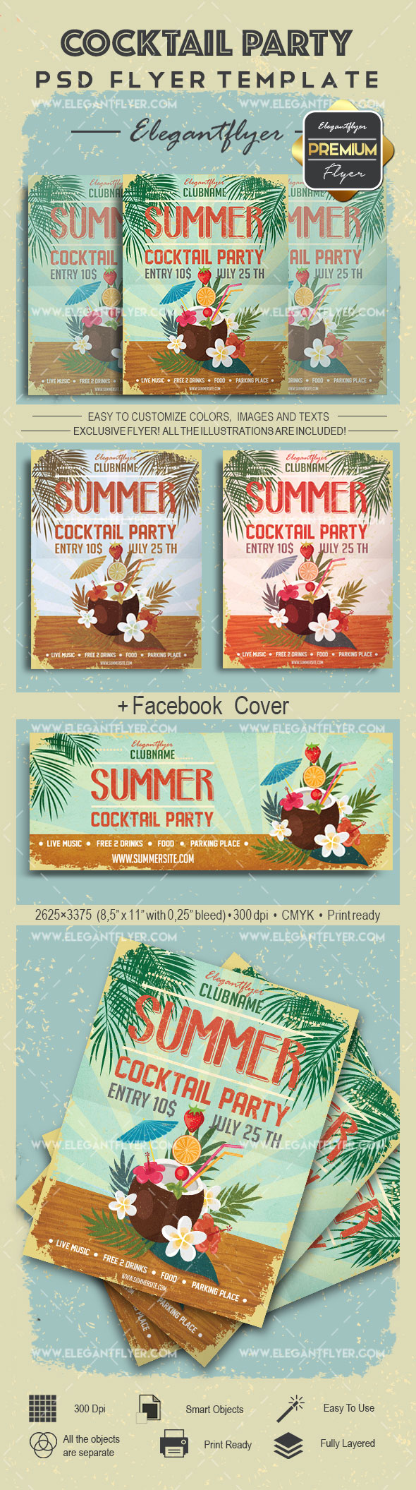 Cocktail Party- Flyer PSD Template