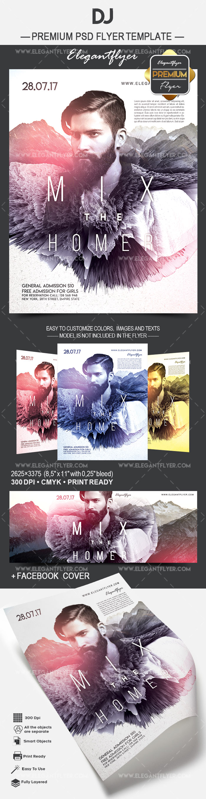 DJ – Flyer PSD Template