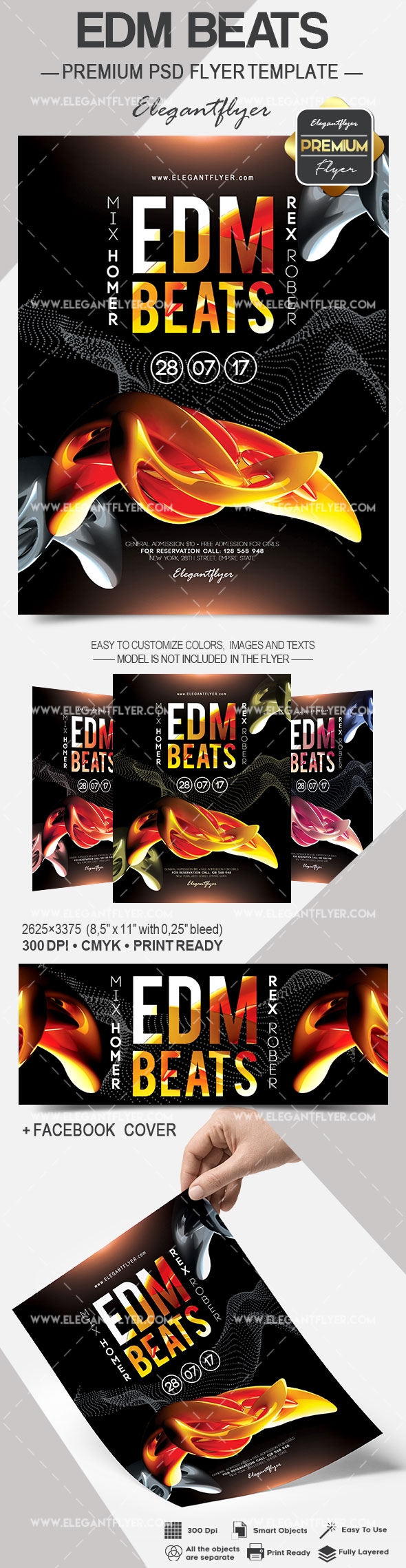 Edm Beats – Flyer PSD Template
