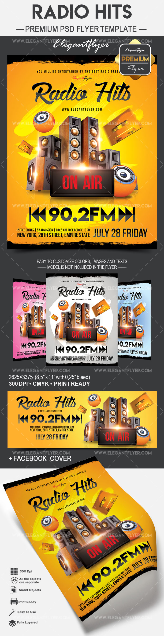 Radio Hits – Flyer PSD Template