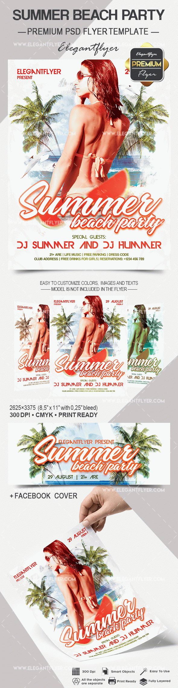 Summer Beach Party PSD Flyer