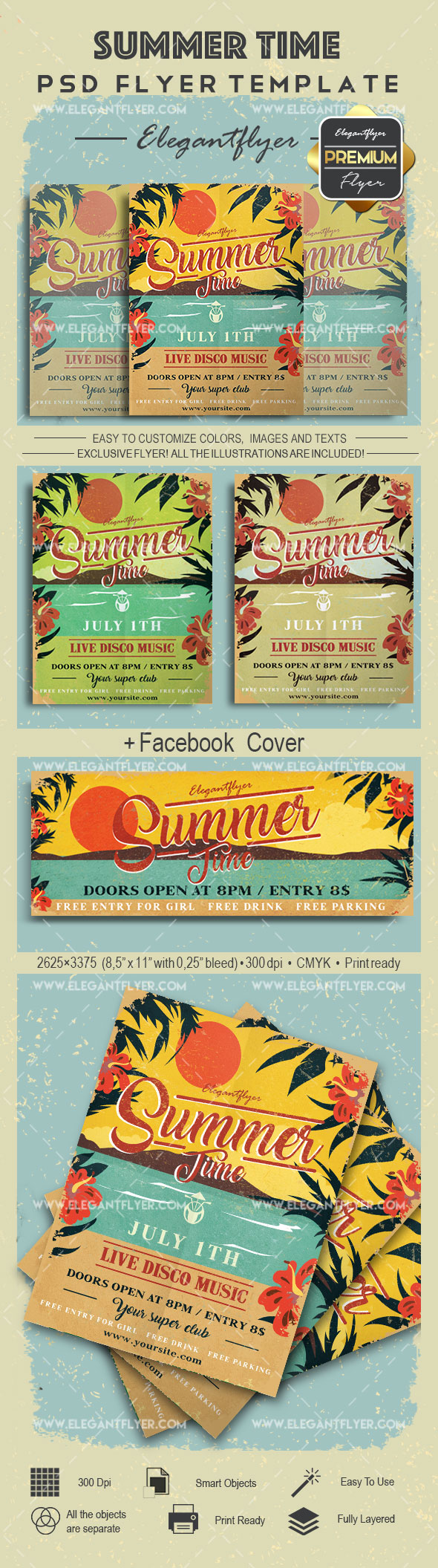 Summer Time- Flyer PSD Template