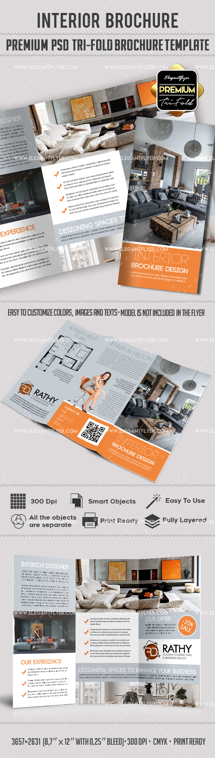 PSD Brochure for Interior Design