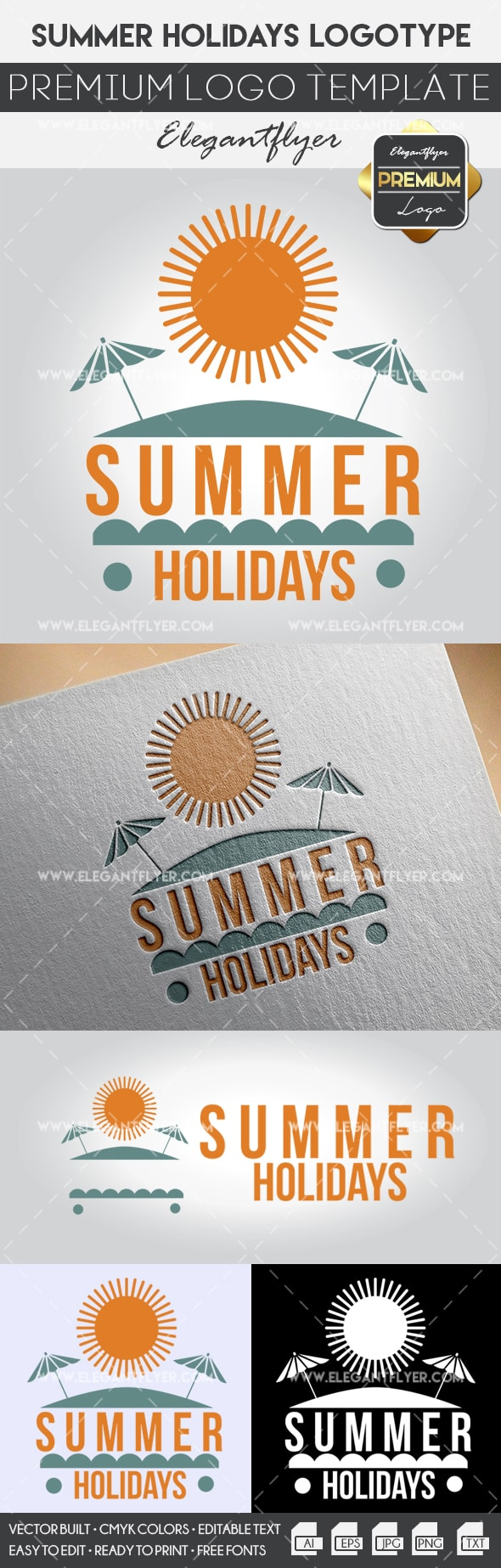 Summer Holidays – Premium Logo Template